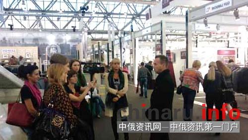 中国服装企业参展俄罗斯莫斯科服装博览会